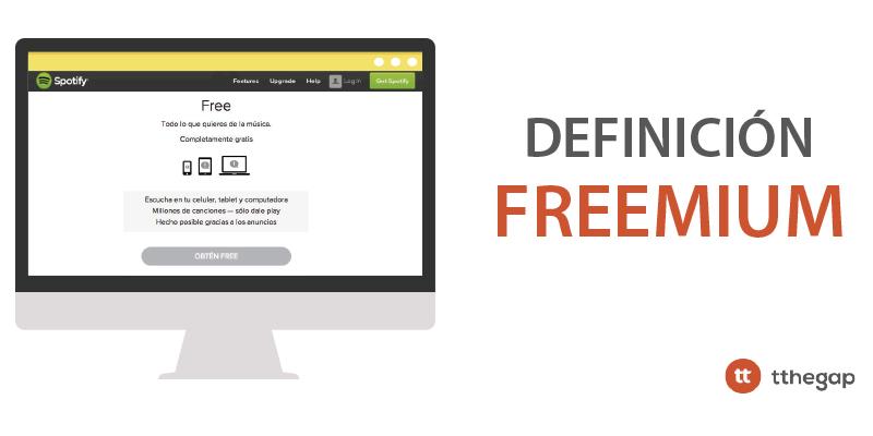 Diccionario tthegap. Freemium