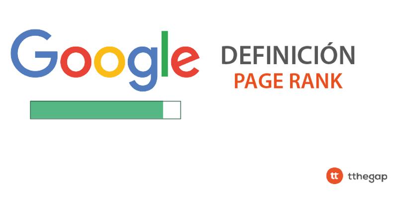 Diccionario tthegap. Page Rank